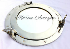 "17"" Windows Porthole Mirror ~ Cabin Porthole ~ Aluminium Ship Boat Wall Mirror"