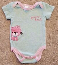 BABY KISS 0-3 MONTH PURRR-FECT KITTY BODYSUIT ADORABLE
