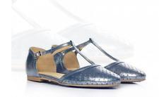 L37 Unique Handmade Leather SPACE Tbar Flat Shoes UK 4 EU 37 LG09 42 SALESs
