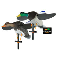 LUCKY DUCK LUCKY PAIR II SPINNING WING MOTION DUCK DECOY MALLARD DRAKE & HEN