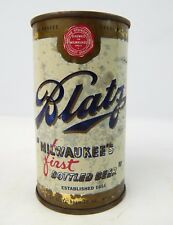 Nice Blatz blue letter Milwaukee's First bottled beer pull tab empty can