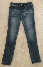 Almost Famous Distressed Destroyed Embellished Denim Slim Skinny Jeans Size 7
