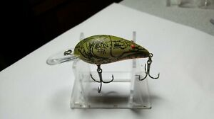 """BOMBER, MODEL 4A, NATURALIZED GRAY CRAW(MOLTING),2""""BODY,3""""O.A.,MARKED, USED,VGC"""