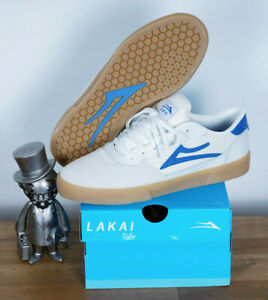 Lakai Footwear Skate Shoes shoes Cambridge white blue Suede 11/45