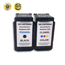 2 PK PG-245XL CL-246XL Black Color Ink Cartridge For Canon PIXMA MG2920 MX492