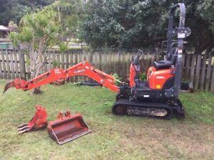 kubota mini excavator k008-3 2018 model only 400 hrs