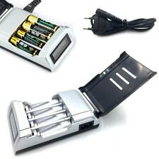 Rechargeable 4 Slots LCD Display Battery Charger for AA / AAA NiCd NiMh EU Plug