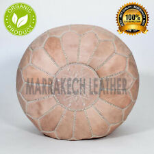 Free Express Shipping Authentic MOROCCAN POUF Leather Pouf Ottoman Pouffe footst