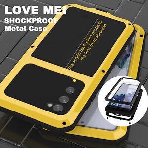 LOVEMEI Gorilla Glass Metal Armor Case Full Body Cover for Samsung Galaxy S20 FE