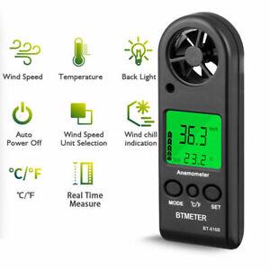 Mini Digital Anemometer Windgeschwindigkeitsmesser Luftgeschwindigkeitsmesser