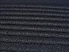 ITALIAN BOILED WOOL -BLACK-COATING FABRIC -FREE P+P