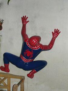 Spiderman Figur Der Bruder Filmfigur Groß Skulptur Silberpfeill  Blau Rot Deko