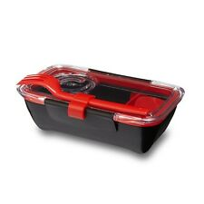 Black & Blum Bento Box Lunchbox - Black + Red