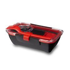 Black & Blum Bento Box Lunchbox - Black + Red