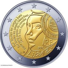 FRANCE NEW 2 € EURO COIN 2015 LIBERTY FREEDOM 225 YEARS FEDERATION COMMEMORATION