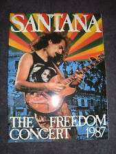 Santana 1987 Freedom Concert Tour Program