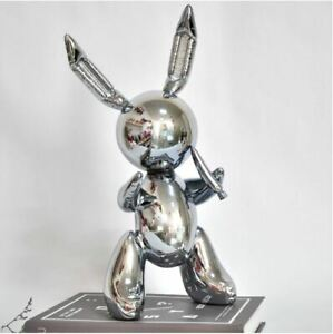 """Balloon Rabbit Sculpture"" Resin Nordic Home Garden decoration Creative Statue."