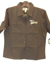 Victory Motorcycle Ladies Black Short Sleeve Pit Shirt ( Size XL) NWT