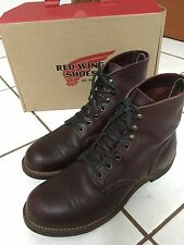 RED WING HERITAGE IRON RANGER 8119 OXBLOOD MESA LEATHER BOOTS 7.5D