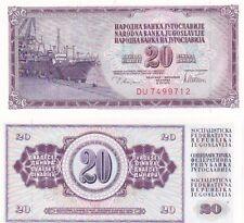 Ex Jugoslavia banconota del 1978 20 dinara
