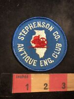 Vtg Illinois STEPHENSON CO. ANTIQUE ENGINE CLUB Advertising Patch 92NF