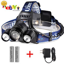 NEW FOR 2017 - Triple LED Headlamp, 5,000 Lumens, Rechargeable Waterproof Light