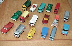 VINTAGE MATCHBOX REGUALR WHEELS CARS / TRUCKS X 17 MERCEDES 220 SL KARRIER ETC