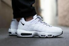 Nike Air Max 95 Premium Triple White and Black - Size UK 9 EU 44 Sneaker Men's