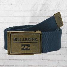 Billabong tela cinturón sargento Belt unisex Navy tela cinturón unisex azul