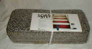 "NEW Natco Home Fashions 13 Soft Step 8"" x 18"" Gray Carpet Cushion Stair Treads"