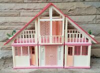 Vintage 1978 Mattel Barbie Pink Dream House with Some Furniture