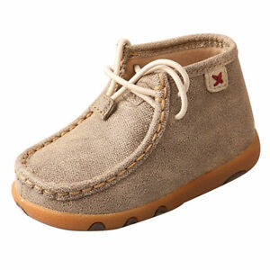 ICA0005 Twisted X Infant Toddler Driving Moccasin Bootie - Dusty Tan NEW
