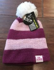 Dakine Girls Molly Purple Pink White Pom Beanie Warm Winter Acrylic Hat NWT