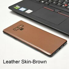 Back Cover Skin Sticker for SAMSUNG GALAXY NOTE 9 8 S8 S9 Plus Leather Carbon