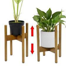 More details for adjustable plant stand extendable bamboo plant & flower pot holder
