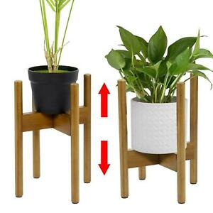 Adjustable Plant Stand Extendable Bamboo Plant & Flower Pot Holder