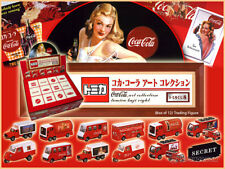 TOMY TOMICA JAPAN KUJI 8 COCA COLA ART COLLECTION SET OF 12 - SUPER RARE