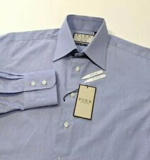 New Thomas Pink Mens Shirt Slim Fit Chambray Blue Duke 15 - 38cm RRP£125