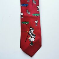 Picasso Tie Peanuts Snoopy Red Cars Racing