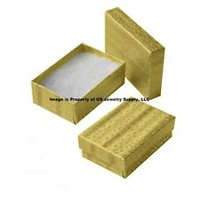 Wholesale 2000 Gold Cotton Fill Jewelry Packaging Gift Box 3 1/4 x 2 1/4 x 1