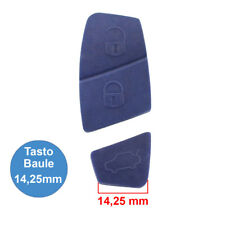 Gommino 3 Tasti Blu Ricambio Telecomando Guscio Chiave Fiat Punto Panda Stilo