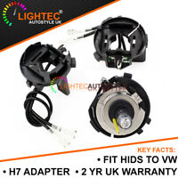 2x H7 HID HEADLIGHT BULB HOLDER ADAPTER CLIPS VW GOLF MK6 MK7 SCIROCCO VITO UK