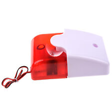 12V Wired Sound Alarm Strobe Flashing Light Siren Home Security System LW
