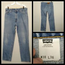 Levis 518 Jeans Men's USA Relaxed Measured 36x36 Tag-38x36 Killer Fade Inv#F4450