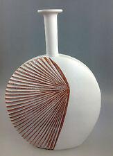 Dekovase Vase Blumenvase 35 cmHoch Deko Modern Design Keramik weiß braun LN39-13