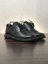 New listing Cole Haan 2.Zerogrand Lined Laser Wingtip Oxford Black Leather Men's Size 8.5