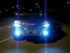 9006 9005 Blue Headlights Combo 10,000K Xenon HID To Replace Sylvania Silverstar
