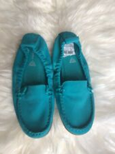 BRAND NEW HUSH PUPPIES Green LOAFERS SHOES LEATHER size UK 4 RRP £55