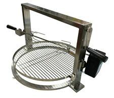 More details for stainless santa maria kettle bbq rotisserie kit adjustable grill fits weber 57cm