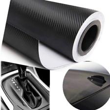 3D Car Accessories/phone Interior Panel Black Carbon Fiber Vinyl Wrap Sticker DJ